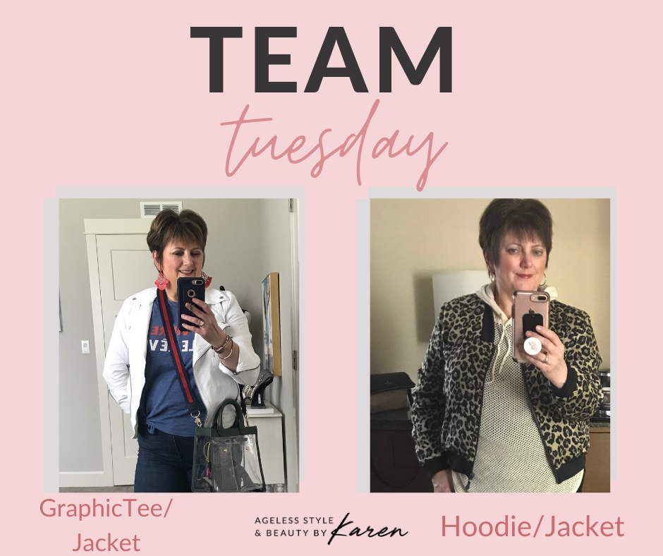 How to Wear Current Trends: Hoodie/Jacket, Graphic Tee